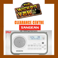 Sangean DPR-67 Rechargeable DAB+ / FM-RDS Digital Radio White/Grey+AUS WARRANTY