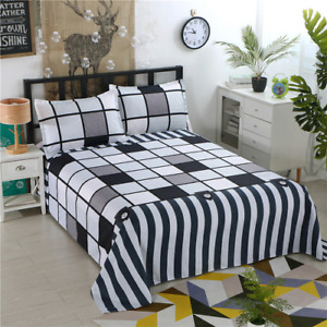 2021 Four Seasons Flat Sheet Blue Night Sky Printed Bedding Bed Top Hot