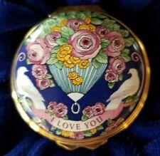 Halcyon Days Enamel Box St. Valentine's Day 2003 w/orig box & Ca* Free Shipping