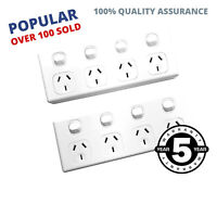 10 Amp Quad GPO x2 Pieces Power Point 4 Gang Electrical Socket 10A SAA