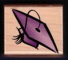GRADUATION CAP Summer Card Tag 1998 Hero Arts A1445 wood Craft Rubber Stamp
