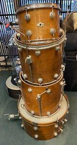 "Camco Drumset  Parts or Project Drum Set 13"" tom 16"" & 18"" Floor Toms 24"" kick"