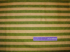 "Gone With The Wind Movie Scrollwork Stripe Green Cotton Fabric REMNANT 14"" x 43"""