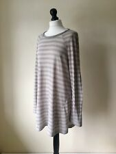 """OSKA Fab Relaxed Fit Cotton Jersey Stripe Tunic Top Size 3 42 - 44"""" Chest"""