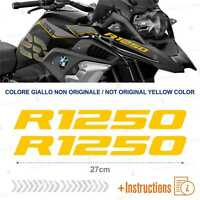 2pcs Adesivi Giallo compatibile Moto BMW R 1250 GS HP R1250 ADVENTURE R1250GS