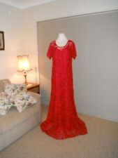 Designer Tania Olsen Ladies Red Lace Gown Size 18