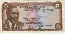 A   SAISIR     BILLET   5  SHILLINGS    KENYA    1967      !!!!    ASSEZ  RARE