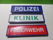 PLAYMOBIL – 3 panneaux « polizei, klinik, feuerwerh » / Sign, panel / 3605 3954