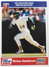 1992 Rickey Henderson Diet Pepsi Collector's Series Card # 28 of 30