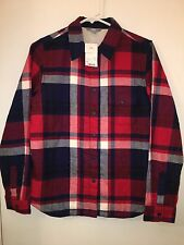 New With Tag Ladies UNIQLO Sherpa Flannel Shirt Size Small