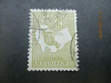 Kangaroo Stamps: 3d Olive Inverted Watermark Used 1st Watermark   (n19)