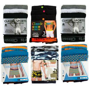2 & 3 Pack Mens Boxers Shorts Classics Sports Comfort Fit Underwear Briefs