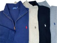 Polo Ralph Lauren Mens Big and Tall Half Zip Mock Neck Pullover Sweater Ribbed