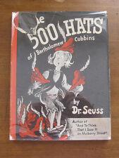 500 HATS OF BARTHOLOMEW CUBBINS by Dr. Seuss 1st/early printing HCDJ 1938