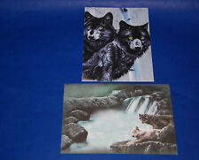 "#10183 WOLF/WOLVES 5"" X 7"" BLANK GREETING CARDS AND ENVELOPES PACK OF FOUR"