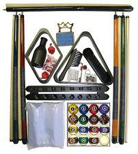 Billiard - Pool Table Accessory Kit W/ Dark Marble  Ball Set Black Finish