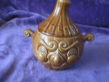 VINTAGE 2- FACED PICKLED ONION  POT. SMALL CHIP IN LID.