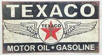 "TEXACO Wings Motor Oil Gasoline METAL WALL SIGN 8.5"" x 16"" Garage ManCave"