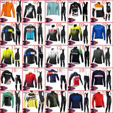 2020 New cycling jersey set winter mens thermal fleece bike shirt bib pants suit