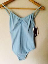 Pastel Blue Bloch cotton transition strap leotard - size Petite ,S, M, New