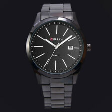 Classical CURREN Black Date Mens Quartz Quality Stainless Steel Wrist Watch