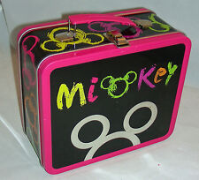 Disney Store Colorful Mickey Mouse Tin Box Lunch Box Kit Tin School Collectible