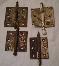 Antique Hinges Miss Matched Ornate Eastlake Craftsman Victorian Art Nouveau