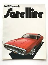 1972 Plymouth Satellite 22-page Original Car Sales Brochure Catalog Road Runner