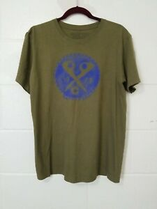 PATAGONIA Organic Cotton Mens S/S Graphic Logo t-Shirt M Green
