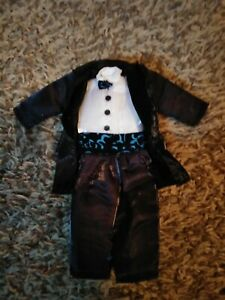 Three 3 Stooges Nostalgic Series Moe Larry Curly Bendable Doll Black Tie Outfit