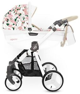 Beautiful Baby Pram BabyActive Mommy Peony + Car Seat in the accents of a pram!