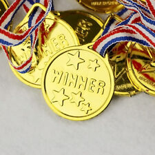 5x Children Kid Gold Plastic Winner Medals Sports Day Party Award Games Toy
