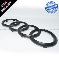 AUDI Matte Black Front Grille Rings Badge Emblem Decoration Modified 8K0853605