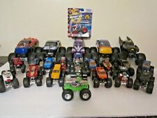Hot Wheels Monster Jam Truck Lot of 23 Small and Big Scale Gravediggers, Batman+