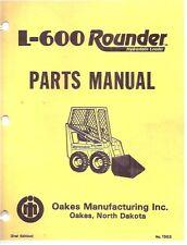 Rounder L-600 Skid Steer Loader Parts Manual