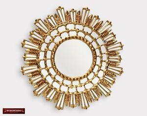 "Decorative Round wall Mirror 31.5""- Bathroom Wood Mirror - Peru Home Wall Decor"
