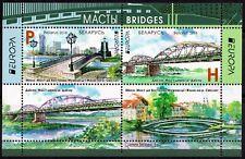2018. Belarus. EUROPA. Bridges. M/sheet of  2 stamps+ 2 labels. MNH