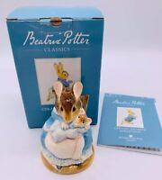 NIB Beatrix Potter Classics A2435 Hunca Munca & Baby Ceramic Figurine Mice 2003
