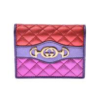 GUCCI Compact wallet Metallic multicolor 536353 purse 800000085163000