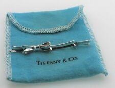 100% Authentic Tiffany Designer Angela Cummings Sterling Silver Bow Pin W/ Pouch