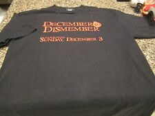 WWE December To Dismember 2006 T-Shirt - Black - Large - Vintage!