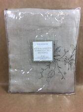 """Restoration Hardware - Floral Garden Embroidered Bedding - 26""""x26"""" Euro Sham"""