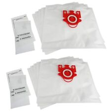 10 x FJM Type Vacuum Dust Bags + Filters For Miele S4780 S4781 S500 S500I S501