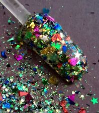 glitter mix acrylic gel nail art       FANCY FOIL