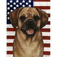 Patriotic (D2) House Flag - Fawn Puggle 32123