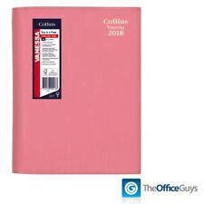 Collins® Vanessa Colours A5 Day to Page Diary 2018 Pink (185.V50-18)