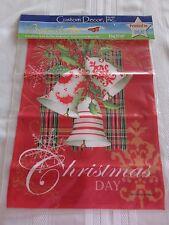 Custom Decor CHRISTMAS DAY - CHRISTMAS BELLS Garden FLAG 12 x 18  NEW