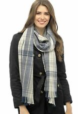 Ladies or Mens large grey check scarf , NEW, 244cm x 50cm Tom Franks