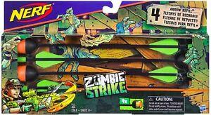 2x Nerf Zombie Strike Dreadbolt Blaster Arrow Refill 4 Arrows In Each (LOT OF 2)