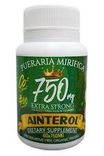 AINTEROL Pueraria Mirifica 750MG Extra Strong 750mg 60 caps Breast Enlargement
